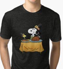 Snoopy Thanksgiving Tri-blend T-Shirt
