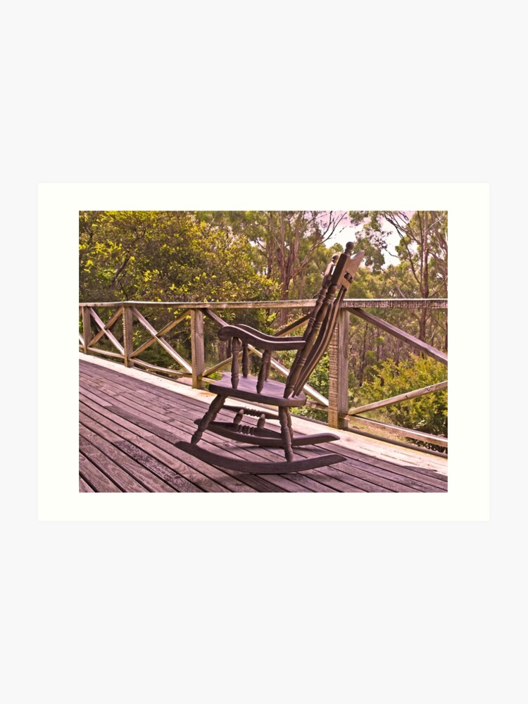 Sensational Home Among The Gumtrees And An Old Rocking Chair Art Print Bralicious Painted Fabric Chair Ideas Braliciousco
