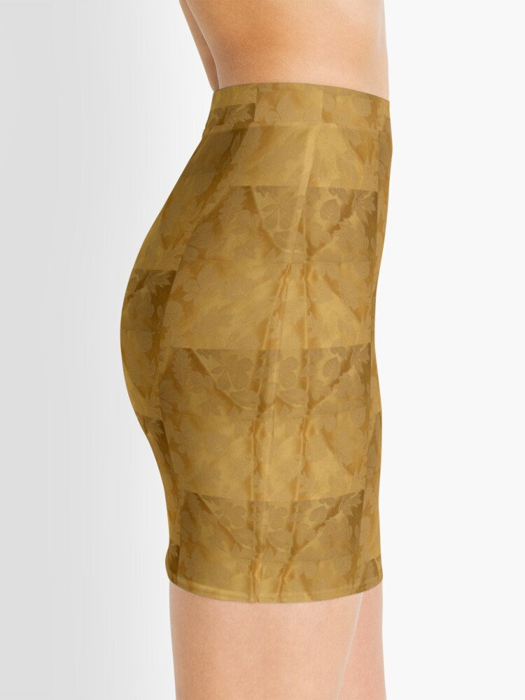 Alternate view of Dipped in Gold  Mini Skirt