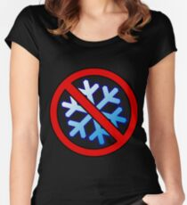 No Special Snowflakes - Red No Circle Symbol Women's Fitted Scoop T-Shirt