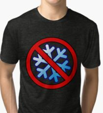 No Special Snowflakes - Red No Circle Symbol Tri-blend T-Shirt