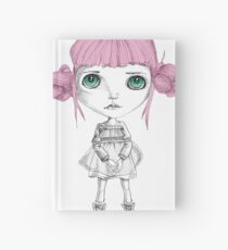 Stares with pink hair Hardcover Journal
