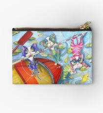 Bait and Switch, Cats Fishing, by Alma Lee Studio Pouch