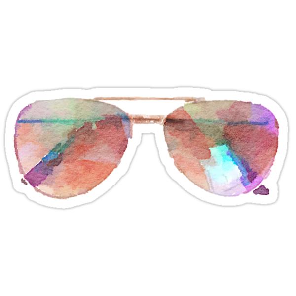 Quot Aviator Sunglasses Watercolor Sticker Hipster Trendy
