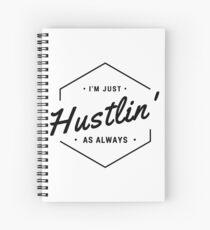 Hustlin' - Black Spiral Notebook