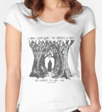 Meet Me In The Woods Women's Fitted Scoop T-Shirt