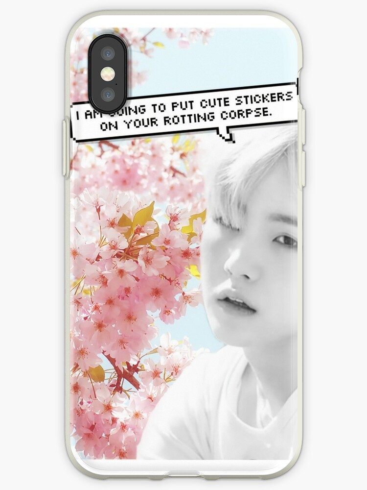 premium selection fec9b f1100 'I'm Going to Put Cute Stickers On Your Corpse - Suga' iPhone Case by  PurgatoryOnly