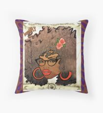 Beautiful and Fly Brown Girl Throw Pillow