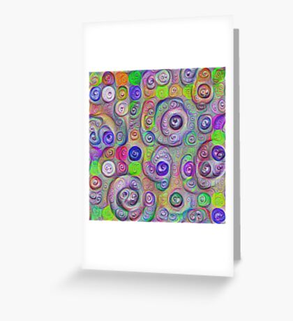 Space snowballs #DeepDreamed Greeting Card
