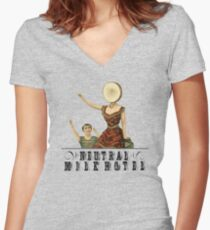 Neutral Milk Hotel - In the Aeroplane Over the Sea Women's Fitted V-Neck T-Shirt