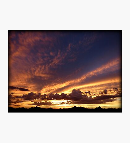 Soft Summer Sunset Photographic Print
