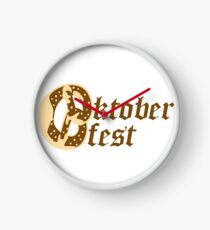 text shirt pretzel food hunger delicious oktoberfest logo symbol cool design Clock