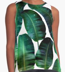 Cosmic Banana Leaves #redbubble #lifestyle Contrast Tank