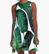 Cosmic Banana Leaves #redbubble #lifestyle A-Line Dress