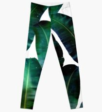 Cosmic Banana Leaves #redbubble #lifestyle Leggings