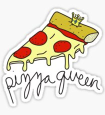 Pizza Queen ♥♕ Sassy/Trendy/Hipster/Tumblr Meme Sticker