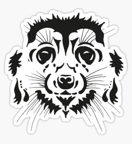 Tribal Meerkat Sticker