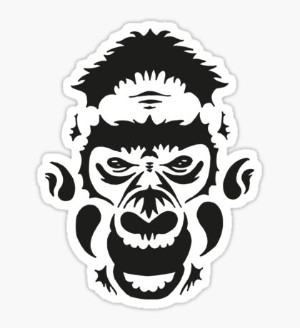 Tribal Gorilla Sticker