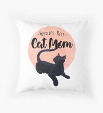 World's Best Cat Mom Throw Pillow
