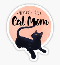 World's Best Cat Mom Sticker
