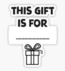 Christmas gift sticker tag! Sticker