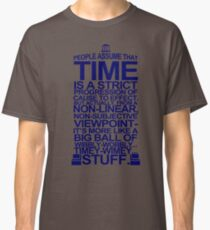 DOCTOR WHO TYPOGRAPHY T Shirt Doc Dr BBC Tardis Time Dalek New Tenth Timey Wimey Classic T-Shirt