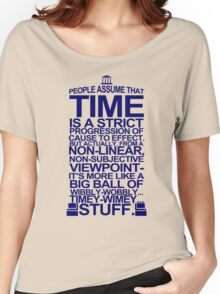 DOCTOR WHO TYPOGRAPHY T Shirt Doc Dr BBC Tardis Time Dalek New Tenth Timey Wimey Women's Relaxed Fit T-Shirt