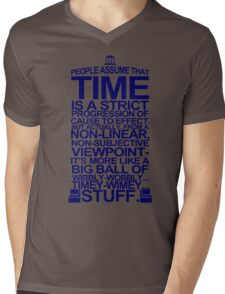 DOCTOR WHO TYPOGRAPHY T Shirt Doc Dr BBC Tardis Time Dalek New Tenth Timey Wimey Mens V-Neck T-Shirt