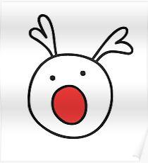 Rudolf Red nose Reindeer Poster