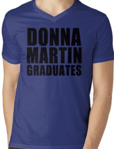Donna Martin Graduates T-Shirt 90210 TV TEE Retro Funny hip Beverly Hills CA Mens V-Neck T-Shirt
