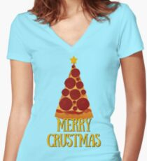 Merry Crustmas!  Women's Fitted V-Neck T-Shirt