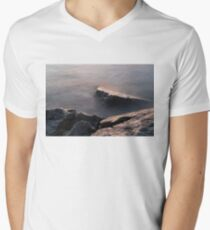Rough and Soft - Rocks on the Beach at Sunrise Men's V-Neck T-Shirt