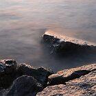 Rough and Soft - Rocks on the Beach at Sunrise by Georgia Mizuleva