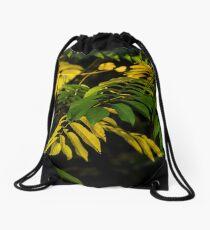 yellow-green autumn Drawstring Bag