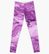 Purple Impasto Leggings