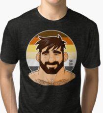 ADAM LIKES HEAD - BEAR FLAG VERSION Tri-blend T-Shirt