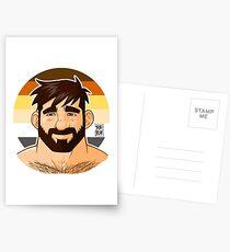ADAM LIKES HEAD - BEAR FLAG VERSION Postcards