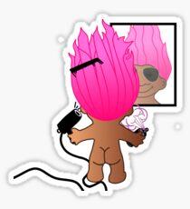 troll doll Sticker