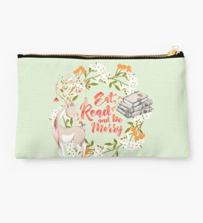 Eat, Read and Be Merry Studio Pouch