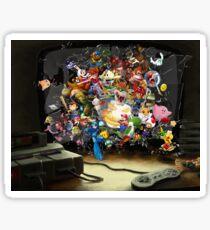 Super Nintendo Mashup! Sticker