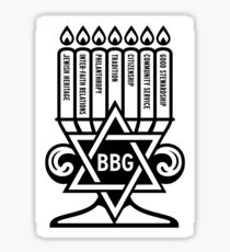 BBYO BBG Menorah Logo  Sticker