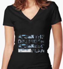 The Dillinger Escape Plan Dissociation Women's Fitted V-Neck T-Shirt