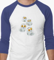 Snowy Owls pattern (Bubo scandiacus) Baseball ¾ Sleeve T-Shirt