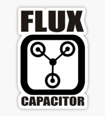 FLUX CAPACITOR TSHIRT Funny BACK TO THE FUTURE TEE Humor 80s DOC BROWN Marty VTG Sticker