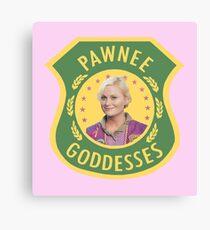 Pawnee Goddesses Leslie Knope Canvas Print