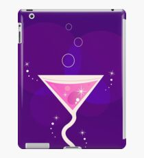 Fresh Martini party cocktail glass : purple and pink iPad Case/Skin