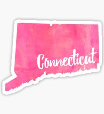 connecticut pink Sticker