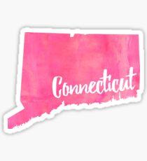 connecticut pink Sticker