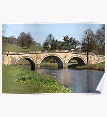 Chatsworth House Bridge Poster