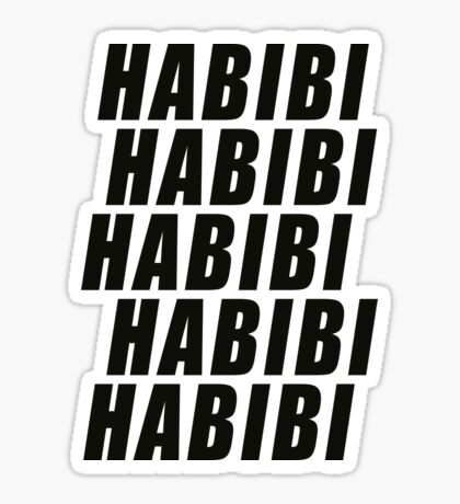 Habibi Slant Sticker